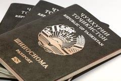 Pasaporte del ciudadano de la República de Tayikistán en viajar al extranjero Imagen de archivo libre de regalías