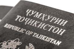 Pasaporte del ciudadano de la República de Tayikistán en viajar al extranjero Foto de archivo libre de regalías