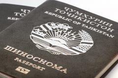 Pasaporte del ciudadano de la República de Tayikistán en viajar al extranjero Fotografía de archivo libre de regalías