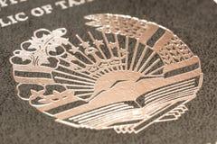 Pasaporte del ciudadano de la República de Tayikistán en viajar al extranjero Imágenes de archivo libres de regalías