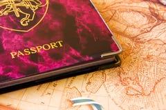 Pasaporte del recorrido Foto de archivo libre de regalías