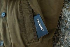 Pasaporte en bolsillo Fotografía de archivo libre de regalías