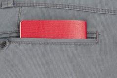 Pasaporte en bolsillo de pantalones Fotos de archivo libres de regalías