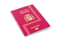 Pasaporte español imágenes de archivo libres de regalías