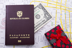 Pasaporte extranjero Foto de archivo