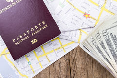 Pasaporte extranjero Imagen de archivo libre de regalías