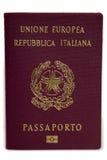 Pasaporte italiano Imagen de archivo libre de regalías
