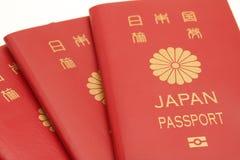 Pasaporte japonés imagen de archivo