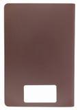 Pasaporte marrón en blanco con el espacio en blanco del código de barras Imágenes de archivo libres de regalías