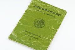 Pasaporte muy usado de la inmigración del mexicano FM3 Imagenes de archivo