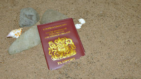 Pasaporte perdido Fotografía de archivo libre de regalías