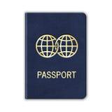 Pasaporte realista. Aislado en blanco. Vector Fotografía de archivo libre de regalías