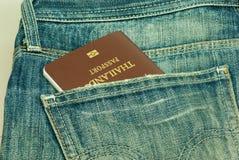 Pasaporte robado del bolsillo trasero Tailandia Foto de archivo