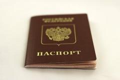 Pasaporte ruso para los países extranjeros Imagen de archivo libre de regalías