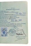 Pasaporte - sello de visa del tránsito. imagen de archivo libre de regalías