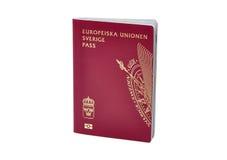 Pasaporte sueco Imágenes de archivo libres de regalías