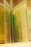 Pasaporte - visa Fotos de archivo