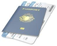 Pasaporte y boleto Fotografía de archivo libre de regalías