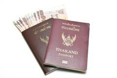 Pasaporte y dinero Imagen de archivo libre de regalías