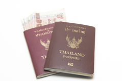 Pasaporte y dinero Fotos de archivo