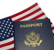 Pasaporte y indicador de Americal Imágenes de archivo libres de regalías