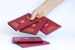 Pasaportes alemanes Imagen de archivo libre de regalías