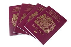 Pasaportes británicos Fotografía de archivo