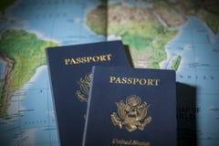 Pasaportes del viaje Fotos de archivo