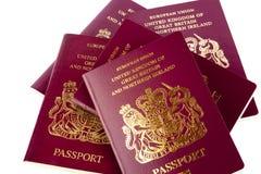 Pasaportes en el fondo blanco Foto de archivo libre de regalías