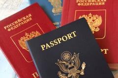 Pasaportes múltiples Imágenes de archivo libres de regalías