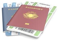 Pasaportes y boletos Imagen de archivo