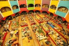 Pasar Besar Siti Khadijah, Kota Bharu, Kelantan, Малайзия Стоковое Фото