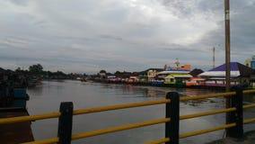 Pasar lama river royalty free stock photos
