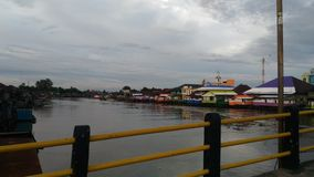 Pasar lama rzeka Zdjęcia Royalty Free