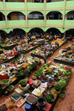 Pasar Siti Khadijah (Kota Bharu Central Market), Kelantan, Malaysia Arkivfoton