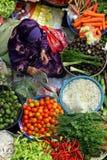 Pasar Siti Khadijah (Kota Bharu Central Market), Kelantan, Maleisië royalty-vrije stock foto's