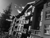 Pasar tiempo en la estación de esquí de los sunpeaks imagen de archivo