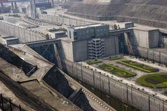 Pasarela de Three Gorge Dam, detalle imagen de archivo