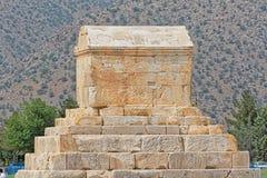 Pasargad伟大的赛勒斯坟茔 库存照片