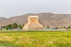 Pasargad伟大的赛勒斯坟茔 免版税库存图片