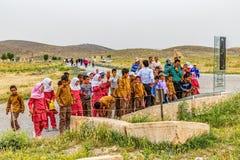 Pasargad儿童的游览 库存照片