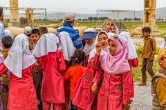 Pasargad儿童的游览 免版税库存照片