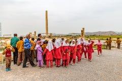 Pasargad儿童` s游览 免版税库存照片