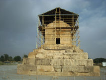 Pasargad. The tomb of Cyrus the Great is the most important monument in Pasargad. Pasargad, the first capital of the Achaemenid Empire, lies in ruins 43 Royalty Free Stock Photo