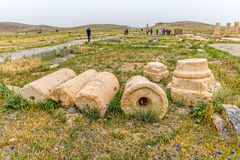 Pasargad archaeological site Royalty Free Stock Photo