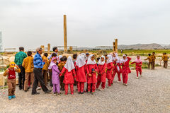 Pasargad children`s excursion Royalty Free Stock Photo