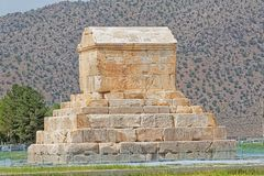 Pasargad Cyrus Wielki grobowiec Fotografia Stock