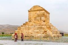 Pasargad Cyrus Wielki grobowiec Zdjęcie Royalty Free