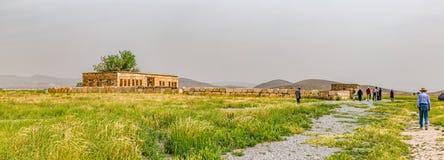 Pasargad Mozaffarid caravansarai Royaltyfria Foton