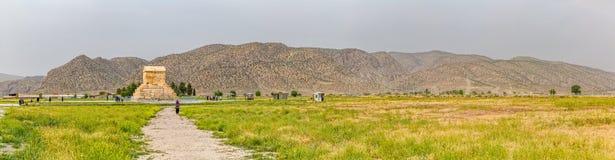 Pasargad panoramautsikt Arkivfoton